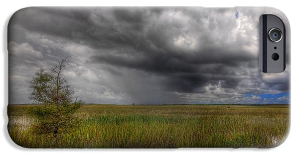 Dark Skies iPhone Cases - Everglades Storm iPhone Case by Rudy Umans
