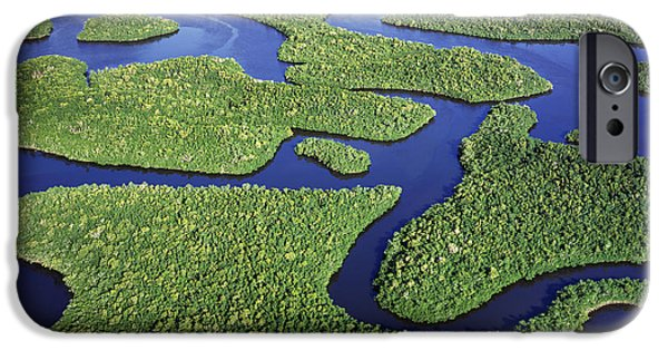 Everglades iPhone Cases - Everglades Waterways iPhone Case by Patrick M Lynch