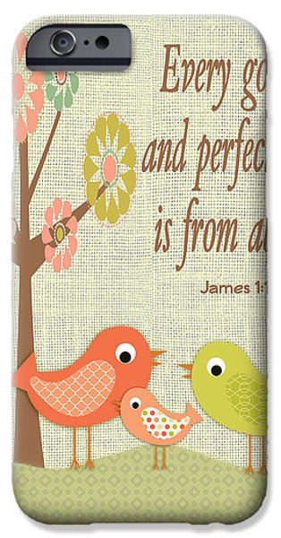 Juvenile Wall Decor iPhone Cases - Every Good Gift iPhone Case by Jean Plout