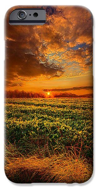 Meadow Photographs iPhone Cases - Every Step of the Way iPhone Case by Phil Koch