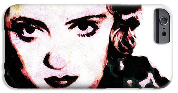 Young Paintings iPhone Cases - Everybody has a heart. Except some people. Bette Davis  iPhone Case by Leapdaybride