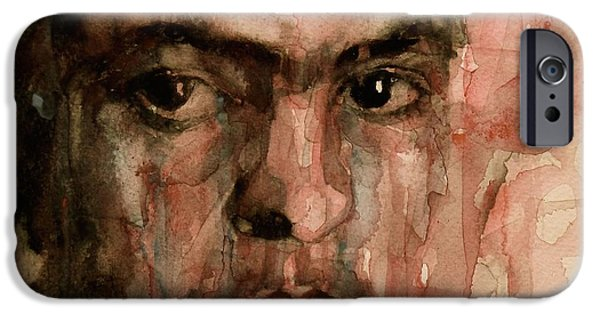 Self Portraits iPhone Cases - Everybody Hurts iPhone Case by Paul Lovering