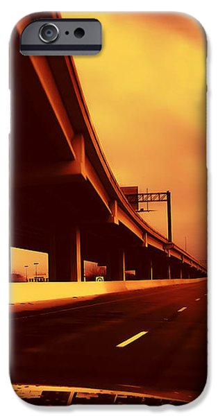 Everybody's Out Of Town - Sundown iPhone Case by Wendy J St Christopher