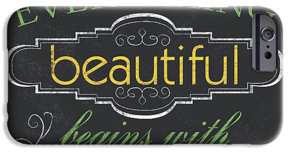 Religious iPhone Cases - Everything Beautiful iPhone Case by Debbie DeWitt