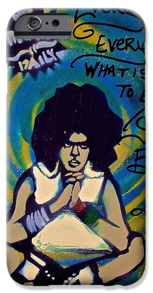 First Lady iPhone Cases - Everything is Everything Blue iPhone Case by Tony B Conscious