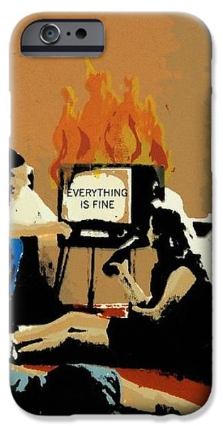 Everything is Fine iPhone Case by David Honaker