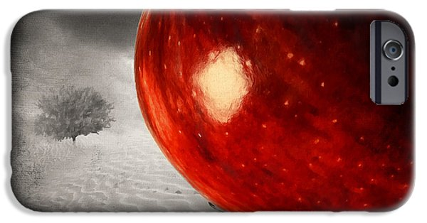 Selective Color iPhone Cases - Eves Burden iPhone Case by Lourry Legarde