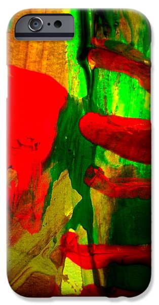 Loose Style Paintings iPhone Cases - evidence of Freddie iPhone Case by David Rogers