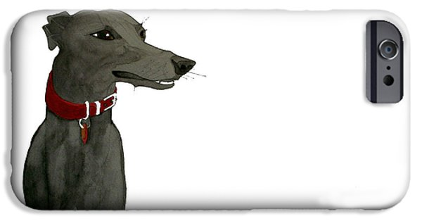 Black Dog iPhone Cases - Evie iPhone Case by Richard Williamson