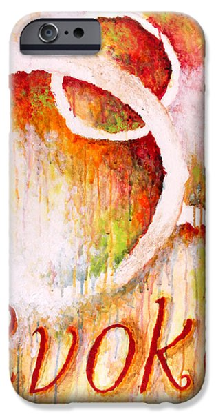 Contemporary Abstract iPhone Cases - Evoke iPhone Case by Michelle Boudreaux