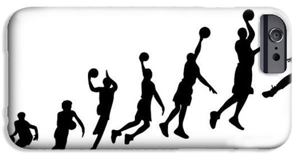 Recently Sold -  - Jordan iPhone Cases - Evolution Human to Michael Jordan iPhone Case by Jarvis Chau