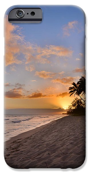 Palm Tree iPhone Cases - Ewa Beach Sunset 2 - Oahu Hawaii iPhone Case by Brian Harig