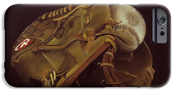 Baseball Glove Paintings iPhone Cases - Example iPhone Case by Jared Wilkins