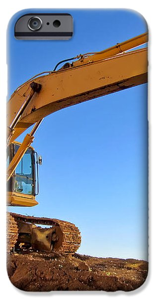 Excavator iPhone Case by Olivier Le Queinec
