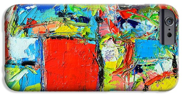 Abstract Expressionist iPhone Cases - Excess Instinct iPhone Case by Ana Maria Edulescu