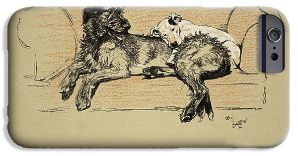 Black Dog iPhone Cases - Execration, 1930, 1st Edition iPhone Case by Cecil Charles Windsor Aldin