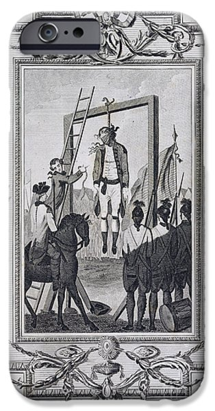 American Revolution iPhone Cases - Execution Of Major Andre iPhone Case by British Library