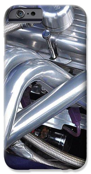 Exhaust Manifold Hot Rod Engine Bay iPhone Case by Allen Beatty