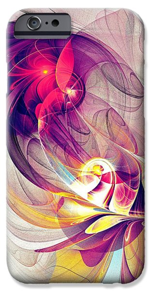 Abstracts iPhone Cases - Exhilarated iPhone Case by Anastasiya Malakhova