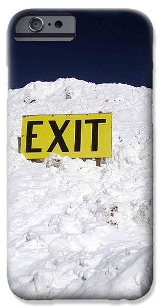 Exit iPhone Case by Fiona Kennard
