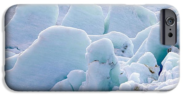 Frigid iPhone Cases - Exit Glacier At Harding Ice Field iPhone Case by Panoramic Images