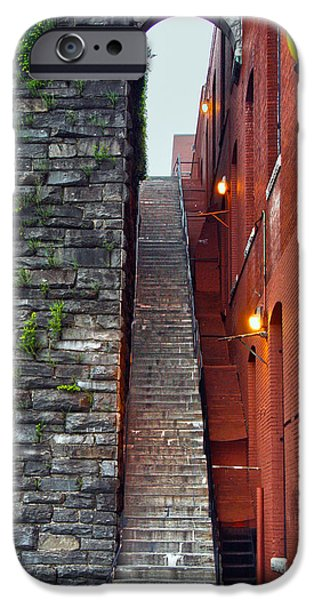 D.c. iPhone Cases - Exorcist Steps iPhone Case by Mitch Cat