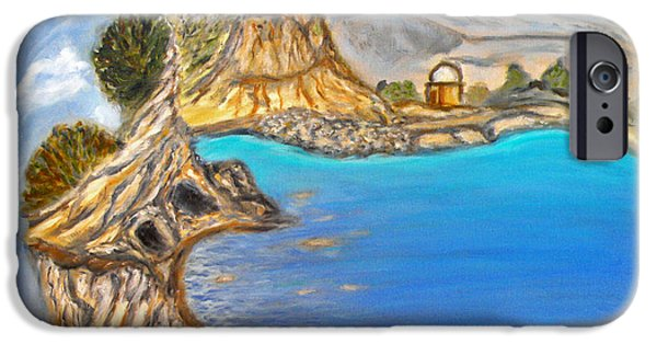 Strange iPhone Cases - Exotic Beach near Limassol iPhone Case by Augusta Stylianou