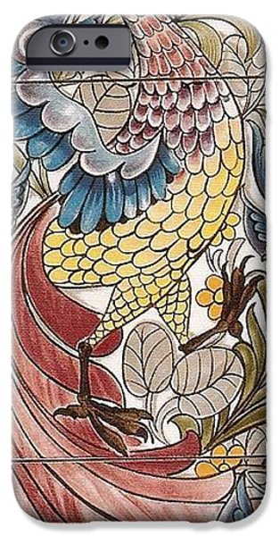 Old Tapestries - Textiles iPhone Cases - Exotic Bird iPhone Case by William Morris