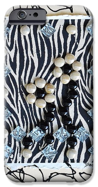 Zebra Prints iPhone Cases - Exotic iPhone Case by Donna Blackhall