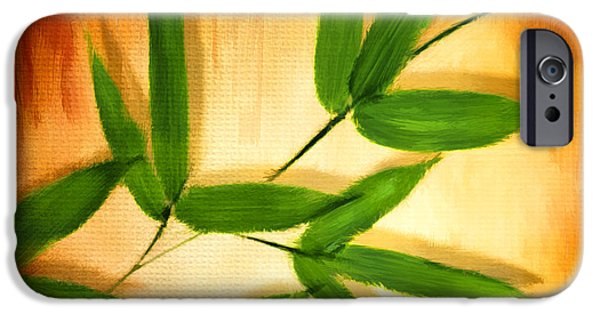 Bamboo Leaves iPhone Cases - Exotic Grace iPhone Case by Lourry Legarde