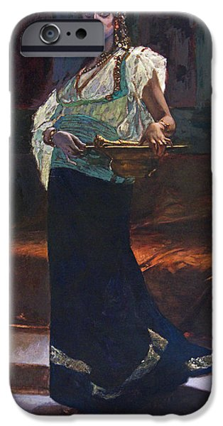 19th Century Paintings iPhone Cases - Exotic Woman iPhone Case by Edouard Richter