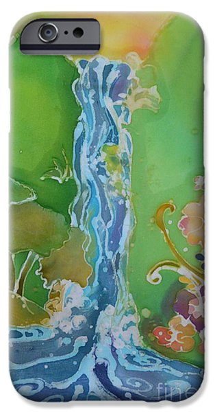 Nature Scene Tapestries - Textiles iPhone Cases - Expansion Falls iPhone Case by Jamie Schab