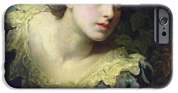 Anticipation Photographs iPhone Cases - Expectation Oil On Canvas iPhone Case by John Rogers Herbert