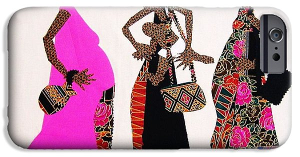 African-americans Tapestries - Textiles iPhone Cases - Expectations iPhone Case by Ruth Yvonne Ash