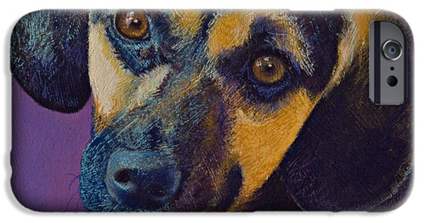 Puppy Pastels iPhone Cases - Expectations iPhone Case by Tracy L Teeter