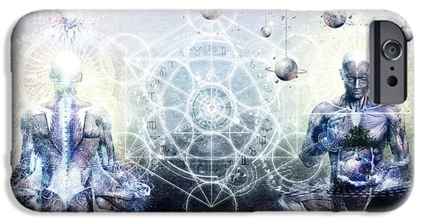 Love Digital Art iPhone Cases - Experience So Lucid Discovery So Clear iPhone Case by Cameron Gray