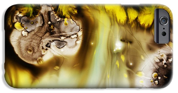 Colorful Abstract iPhone Cases - Experiment III iPhone Case by Andrada Anghel
