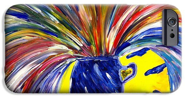 To Heal Paintings iPhone Cases - Exploding Breakthrough  iPhone Case by Stephanie Wogoman