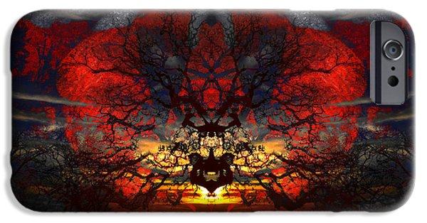 Creepy iPhone Cases - Exploding Tree iPhone Case by Jeffrey OSullivan
