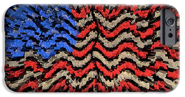 Old Glory iPhone Cases - Exploding with Patriotism iPhone Case by John Farnan
