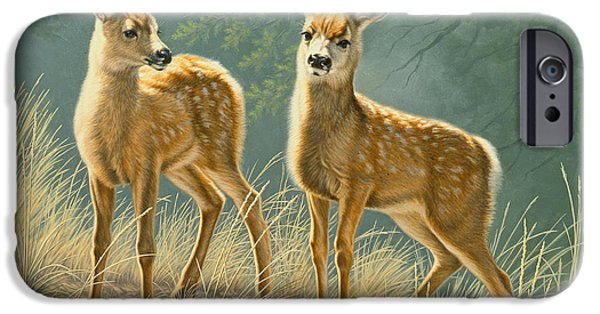 Fawn iPhone Cases - Explorers iPhone Case by Paul Krapf