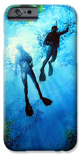 Summer Sports Paintings iPhone Cases - Exploring New Worlds iPhone Case by Hanne Lore Koehler