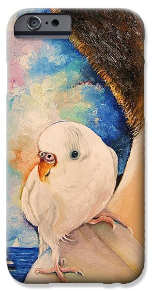 Exploring Paintings iPhone Cases - Exploring the world II iPhone Case by Misuk  Jenkins