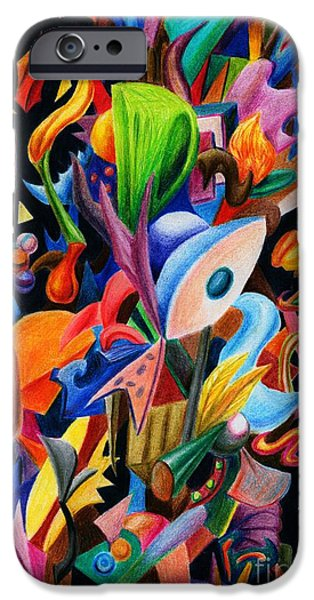 Flower Bombs iPhone Cases - Explosion Of Thought iPhone Case by Alisa Bogodarova