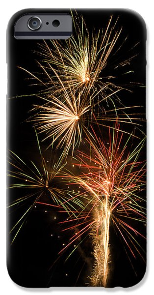 4th July Pyrography iPhone Cases - Explosion iPhone Case by Shirley Tinkham