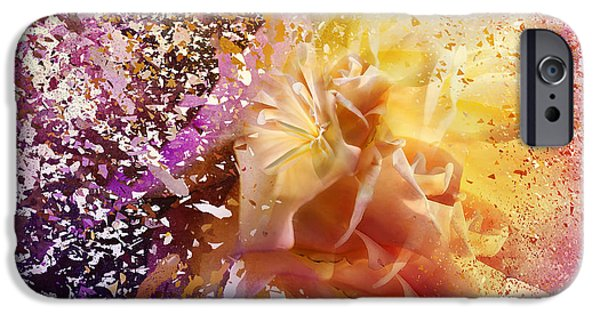 Spectrum Mixed Media iPhone Cases - Explosion iPhone Case by Svetlana Sewell