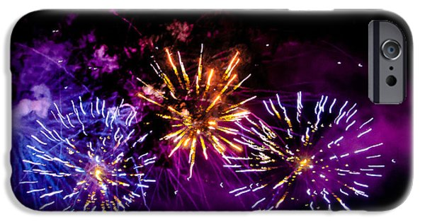 Fourth Of July iPhone Cases - Explosions on the Fourth iPhone Case by David Patterson