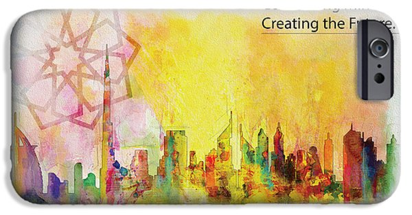 Business Paintings iPhone Cases - Expo Poster 1 iPhone Case by Corporate Art Task Force