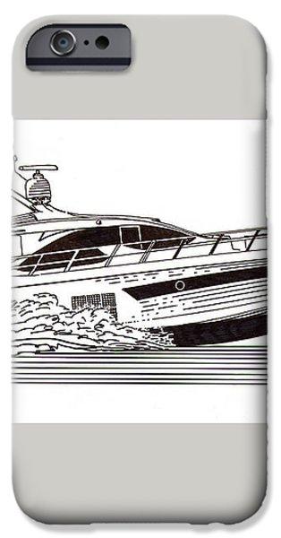 Express Sport Yacht iPhone Case by Jack Pumphrey