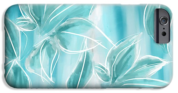 Abstract Seascape iPhone Cases - Exquisite Bloom iPhone Case by Lourry Legarde